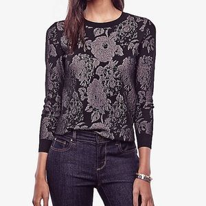 Ann Taylor Floral Lace Sweater